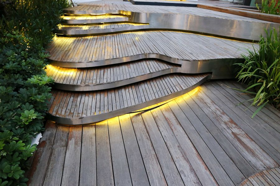 Garden stairs, outdoor LED lighting Empreo-lab