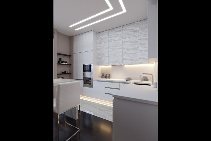 Kitchen ceiling, kitchen cabinets LED lighting Empreo-lab