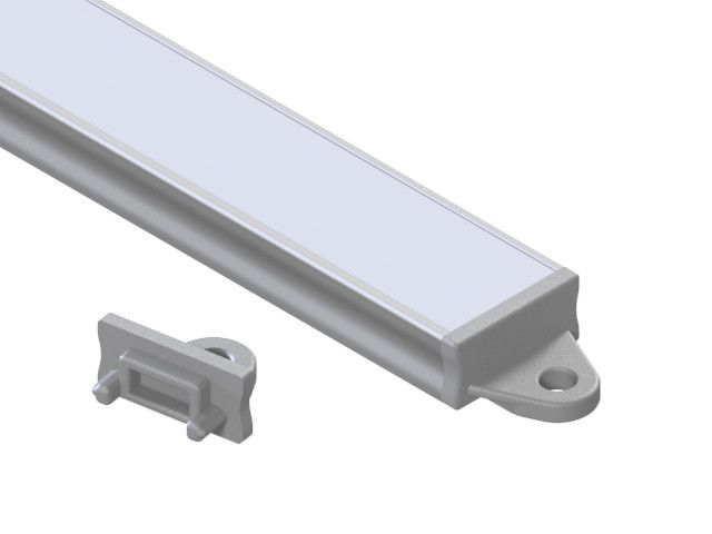 Endcap with mounting handle LED extrusion E8 Empreo-lab