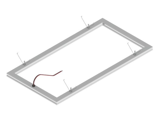 LED aluminum rectangle frame plasterboard mounting Empreo-lab