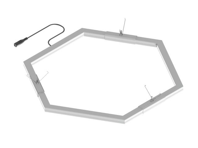 LED fixture hexagon frame drywall DC power cord Empreo-lab