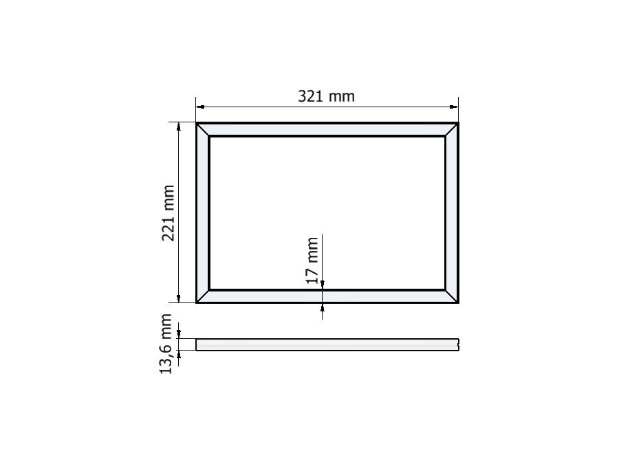 dimnesions LED rectangle R14-2232