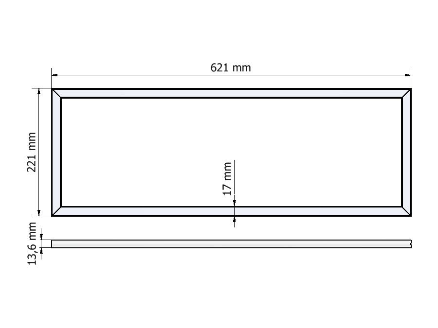 dimnesions LED rectangle R14-2262